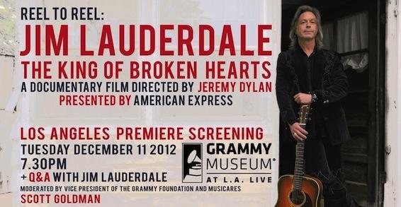 GIVEAWAY:  The King of Broken Hearts himself, Jim Lauderdale -- LA doc screening