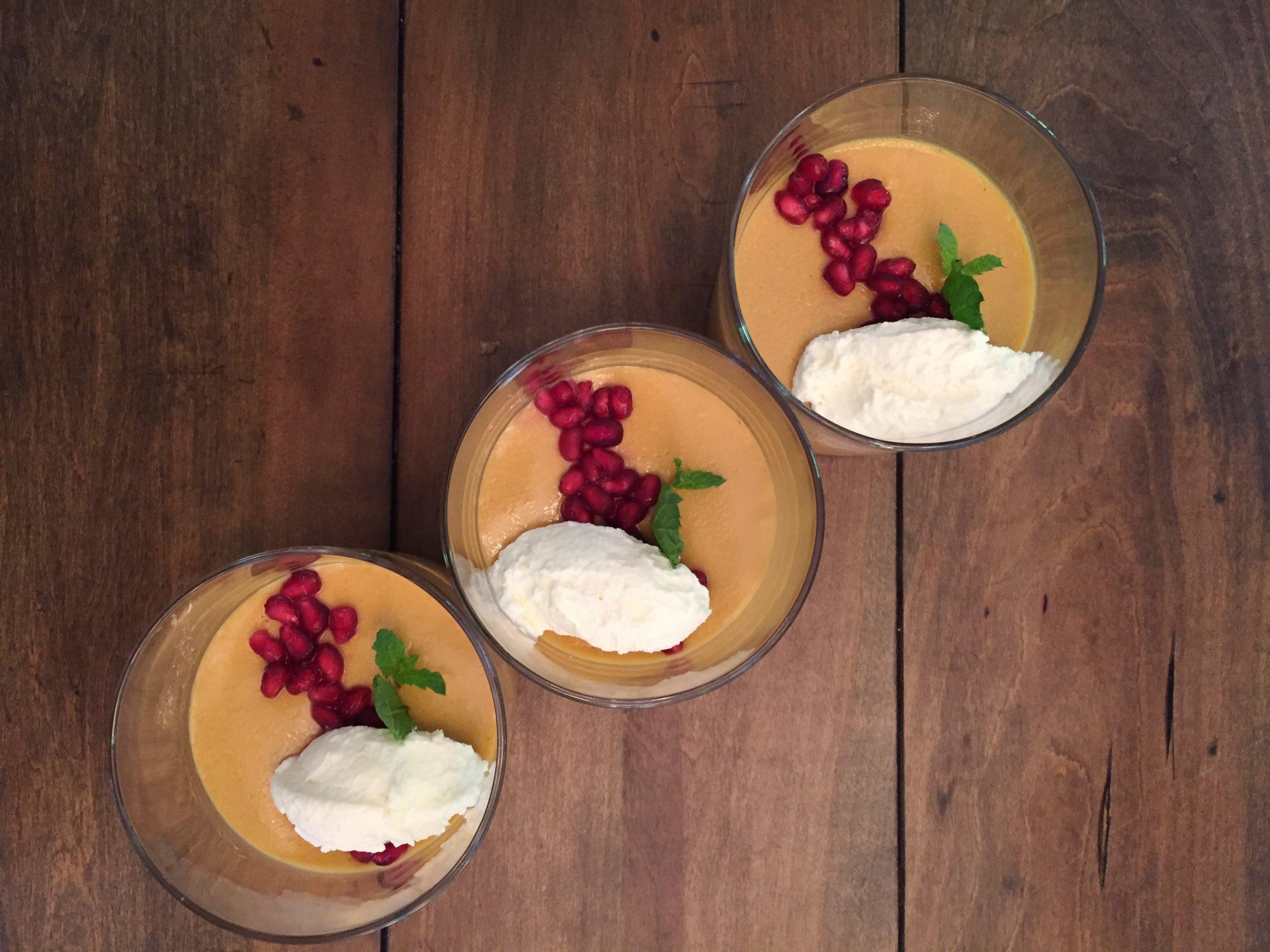 Mango-Butterscotch Pudding
