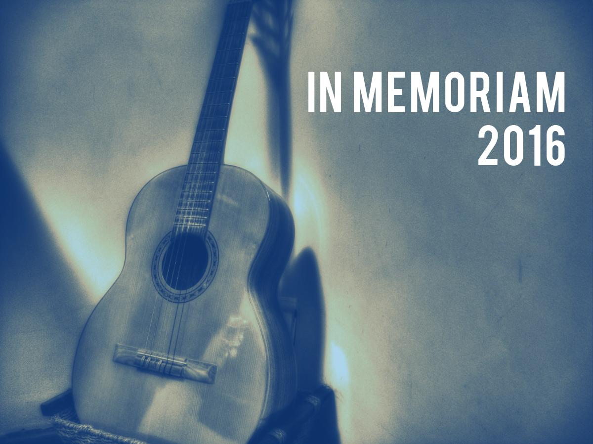 In Memoriam: 2016