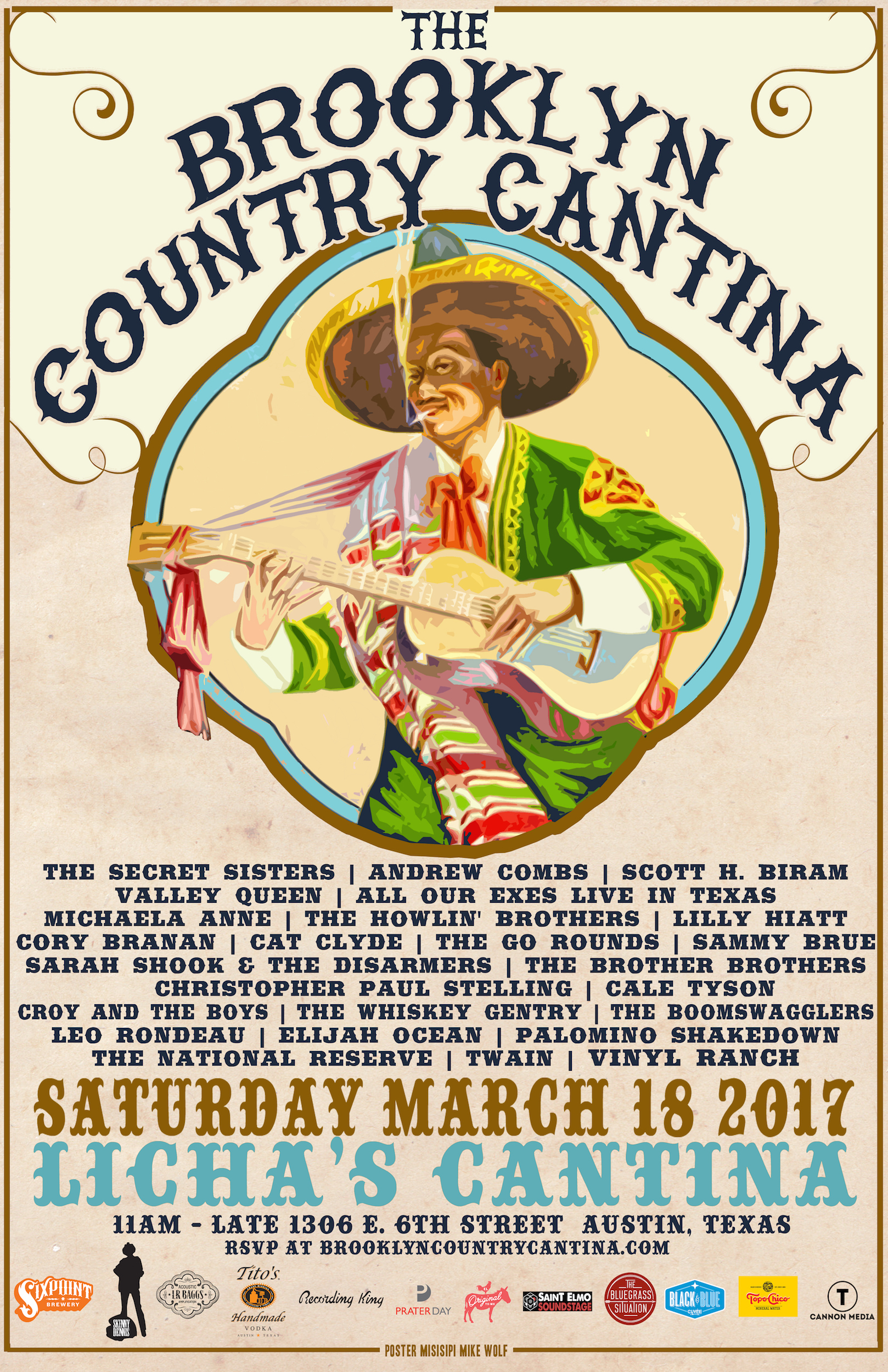 ANNOUNCING: The 2017 Brooklyn Country Cantina at SXSW