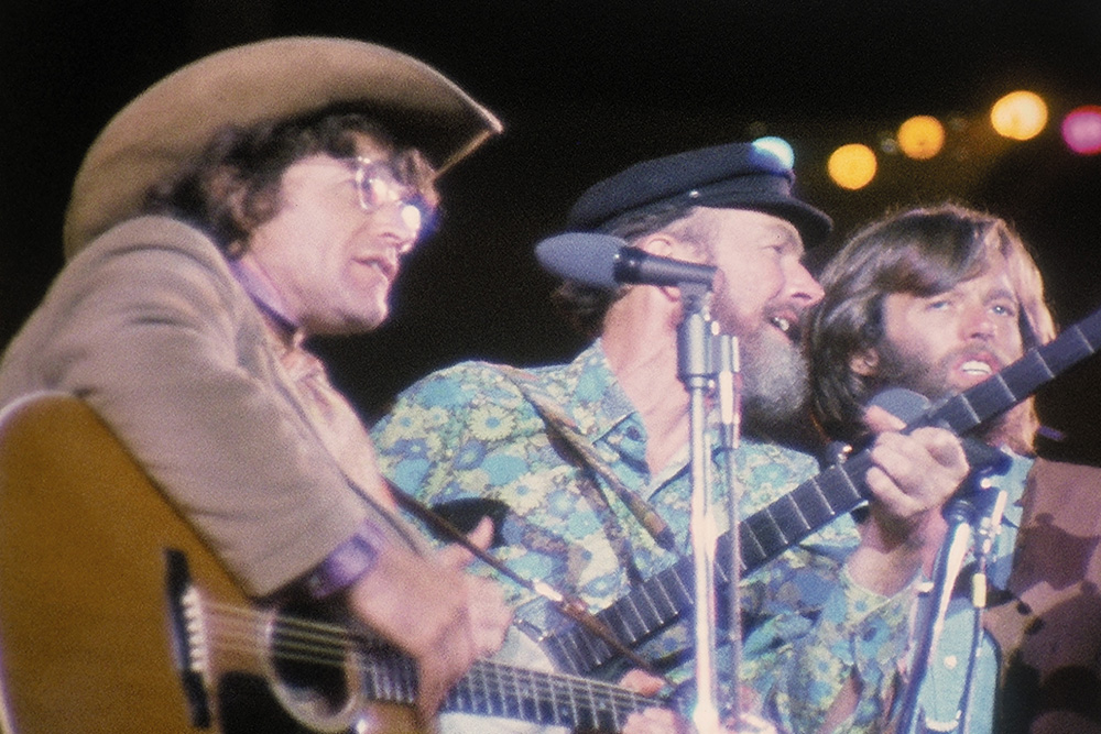 LISTEN: Country Joe McDonald, Arlo Guthrie, Jack Elliott, & Pete Seeger,