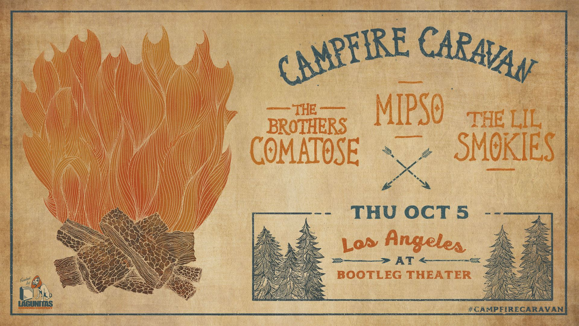 GIVEAWAY - Win tickets to Campfire Caravan at Bootleg Theater (LA) 10/5