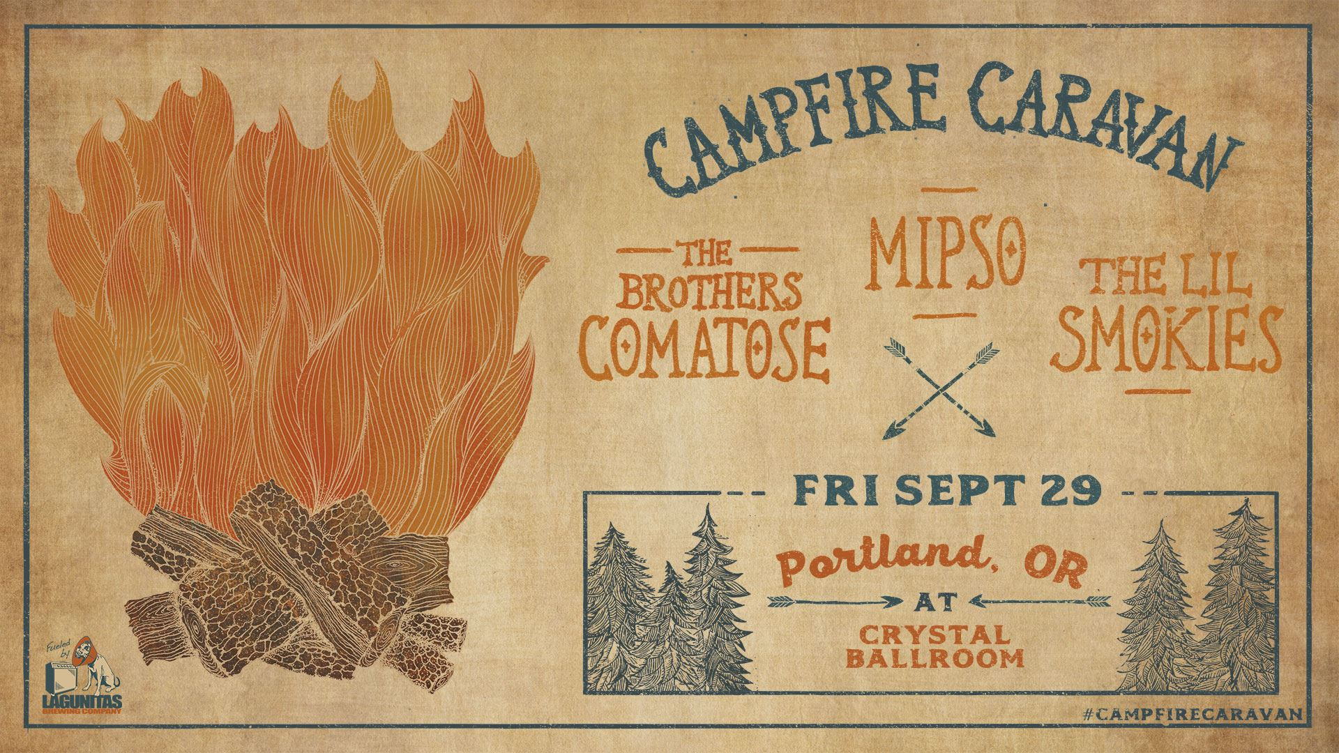 GIVEAWAY - Win tickets to Campfire Caravan at the Crystal Ballroom (Portland, OR)