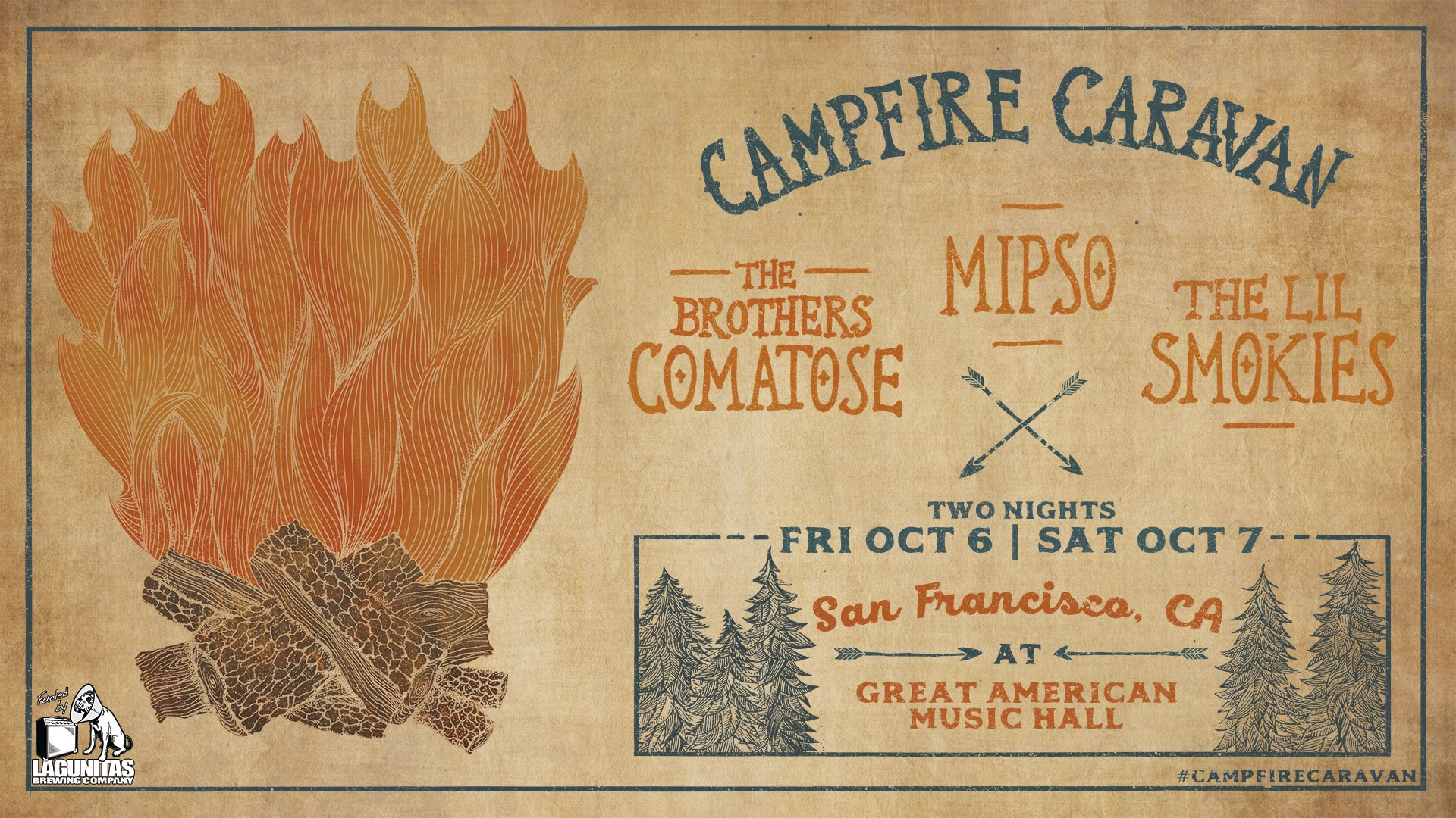 GIVEAWAY - Win tickets to Campfire Caravan at the Great American Music Hall (San Francisco) 10/7