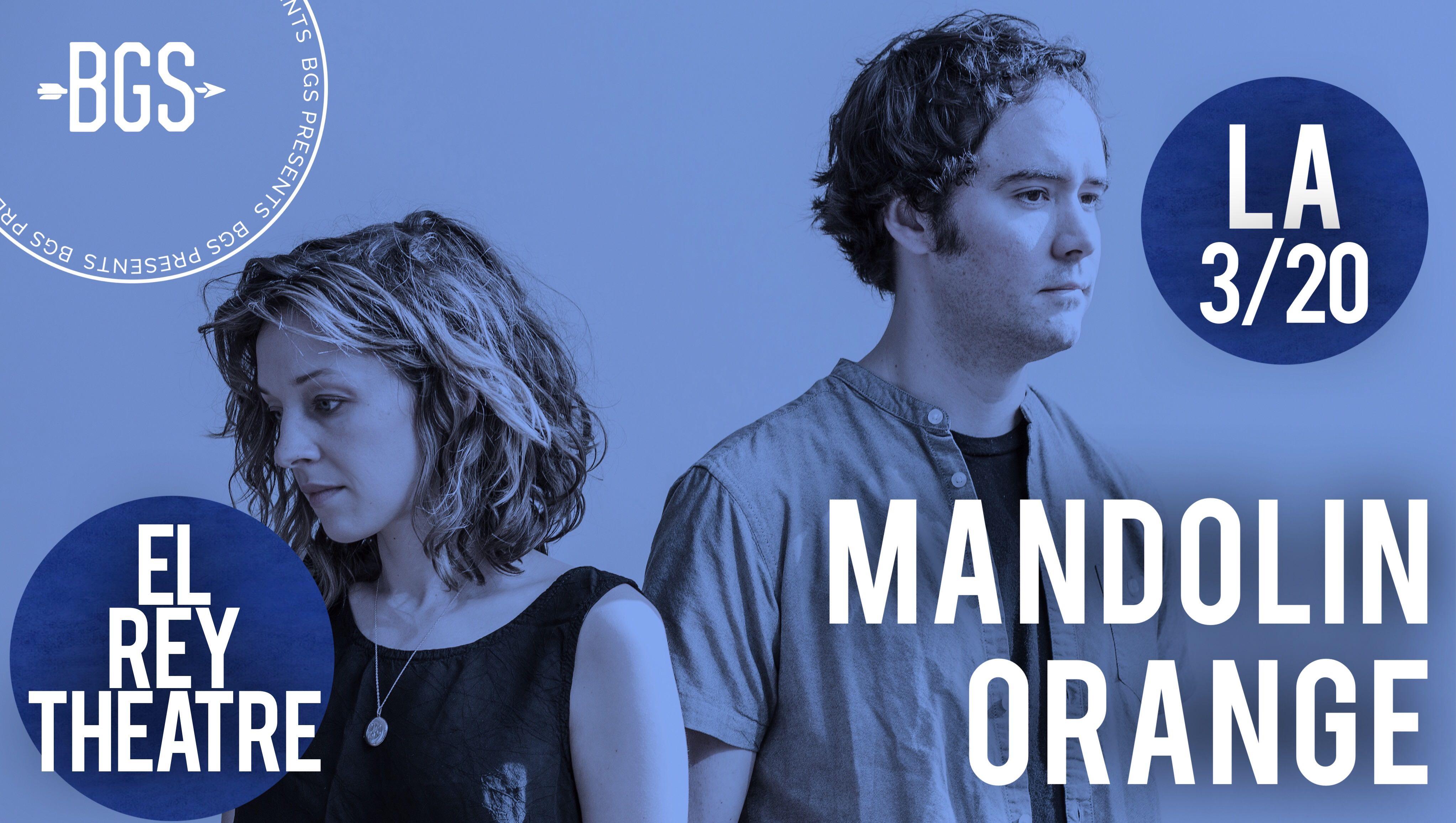 GIVEAWAY: Win tickets to Mandolin Orange at the El Rey Theatre (LA) 3/20