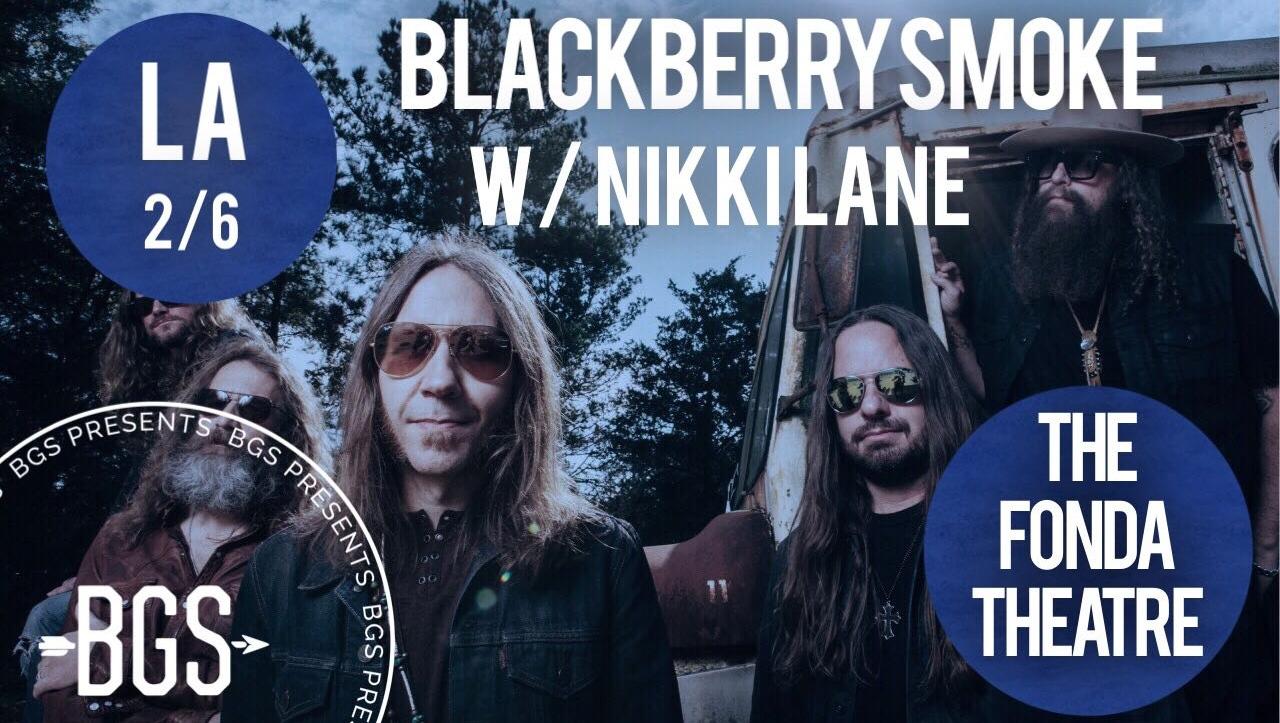 GIVEAWAY: Win tickets to Blackberry Smoke w/ Nikki Lane @ the Fonda Theatre (LA) 2/6