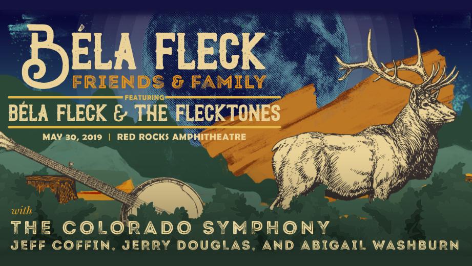 GIVEAWAY: Win Meet & Greet + Tickets to Béla Fleck: Friends & Family @ Red Rocks Amphitheatre (Morrison, CO) 5/29 - 5/30