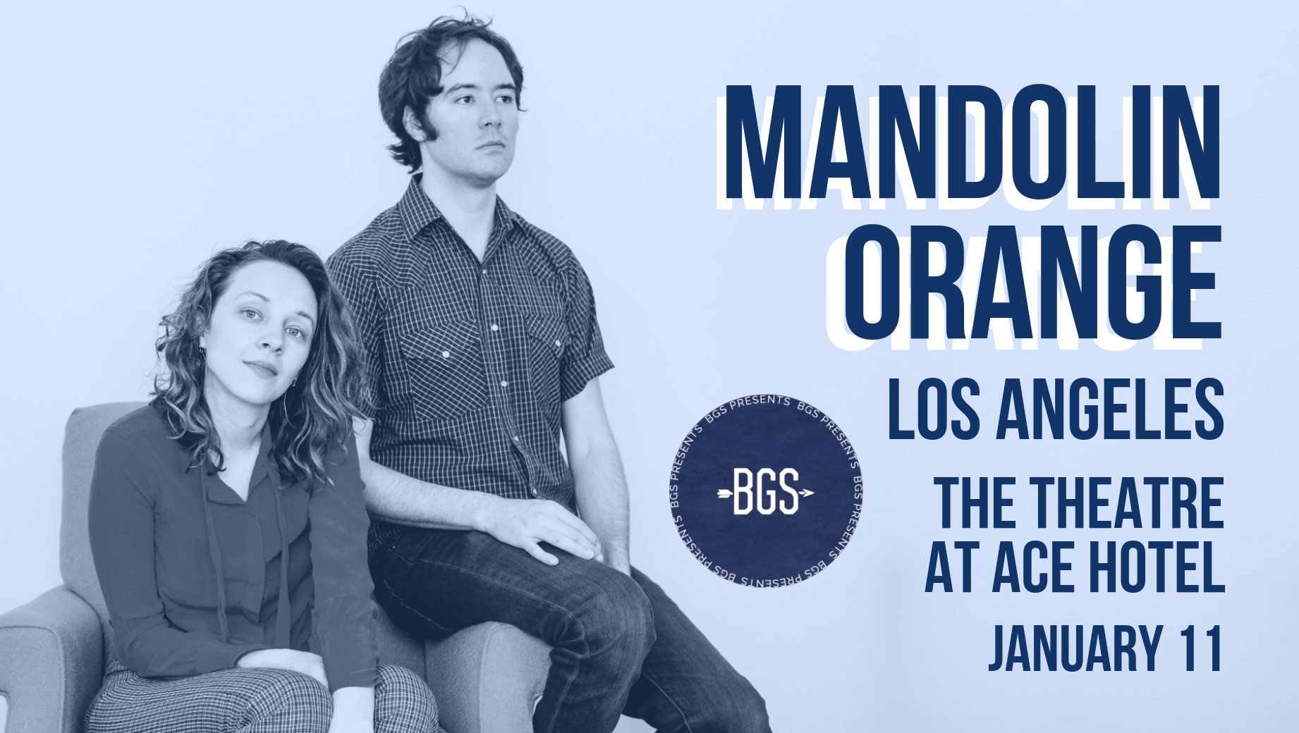 GIVEAWAY: Enter to Win Tickets to Mandolin Orange @ The Theatre at Ace Hotel (LA) 1/11