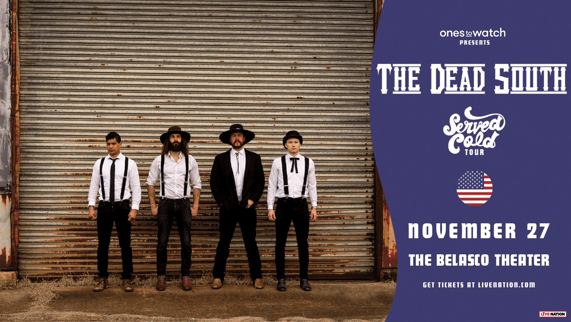 GIVEAWAY: Enter to Win Tickets to The Dead South @ the Belasco Theater (LA) 11/27