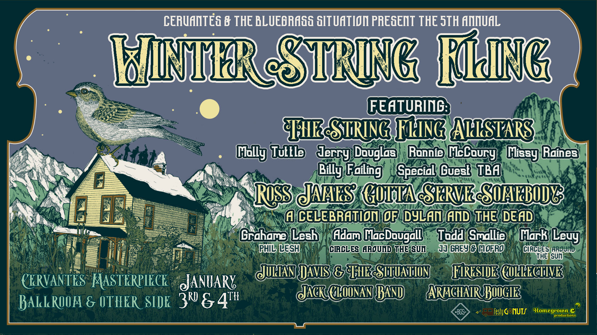 GIVEAWAY: Win tickets to the Winter String Fling @ Cervantes Masterpiece Ballroom & The Other Side (Denver) 1/3 & 1/4