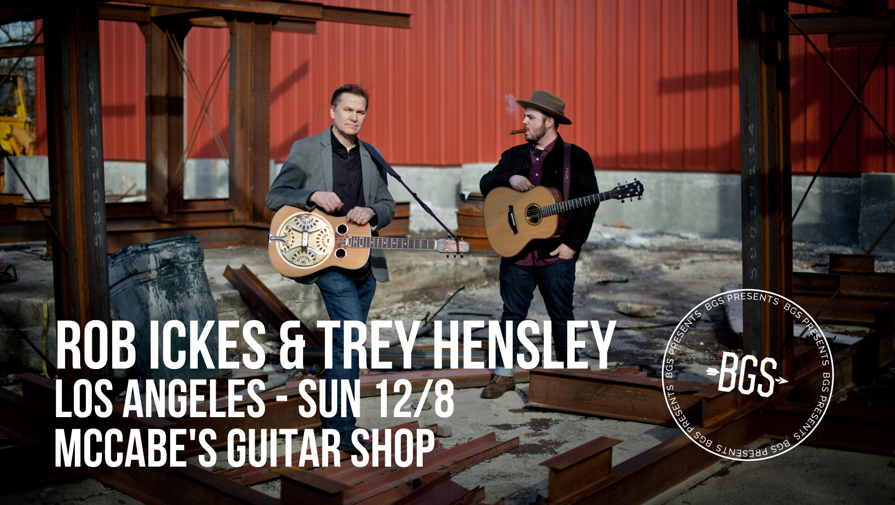 GIVEAWAY: Win tickets to Rob Ickes & Trey Hensley @ McCabe's Guitar Shop (LA) 12/8