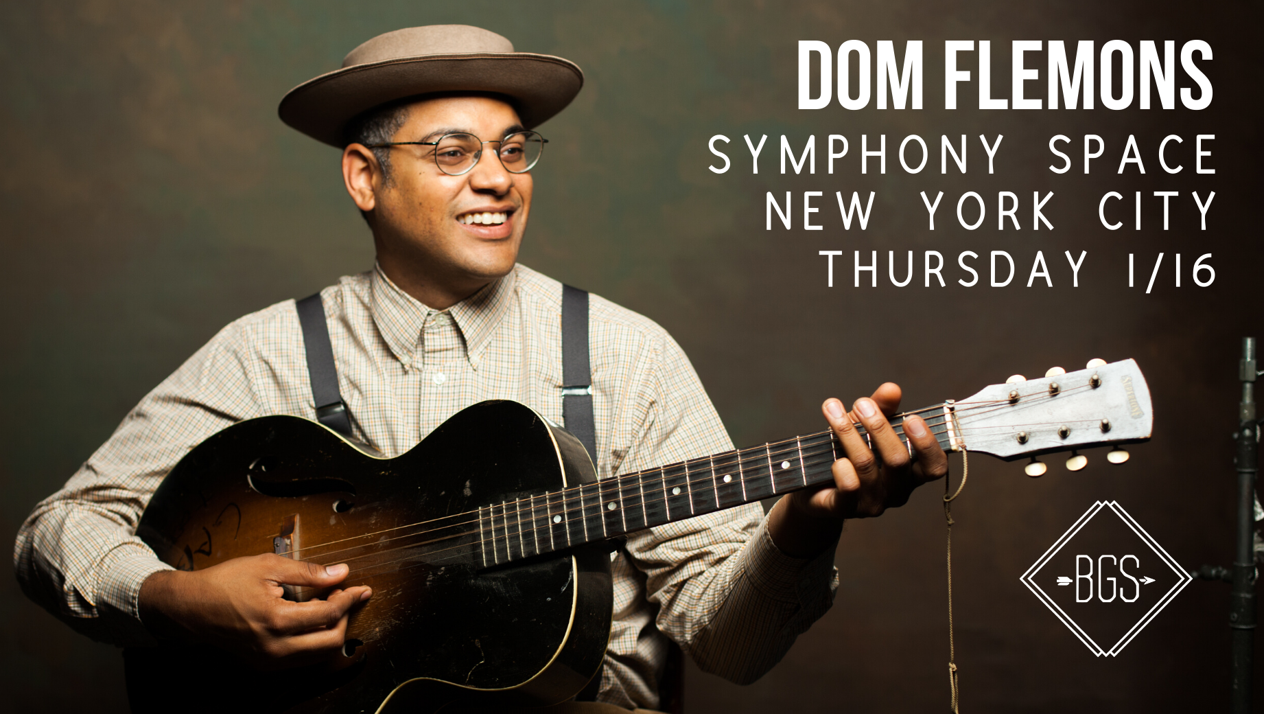 GIVEAWAY - Win Tickets to Dom Flemons @ Symphony Space (NYC) 1/16