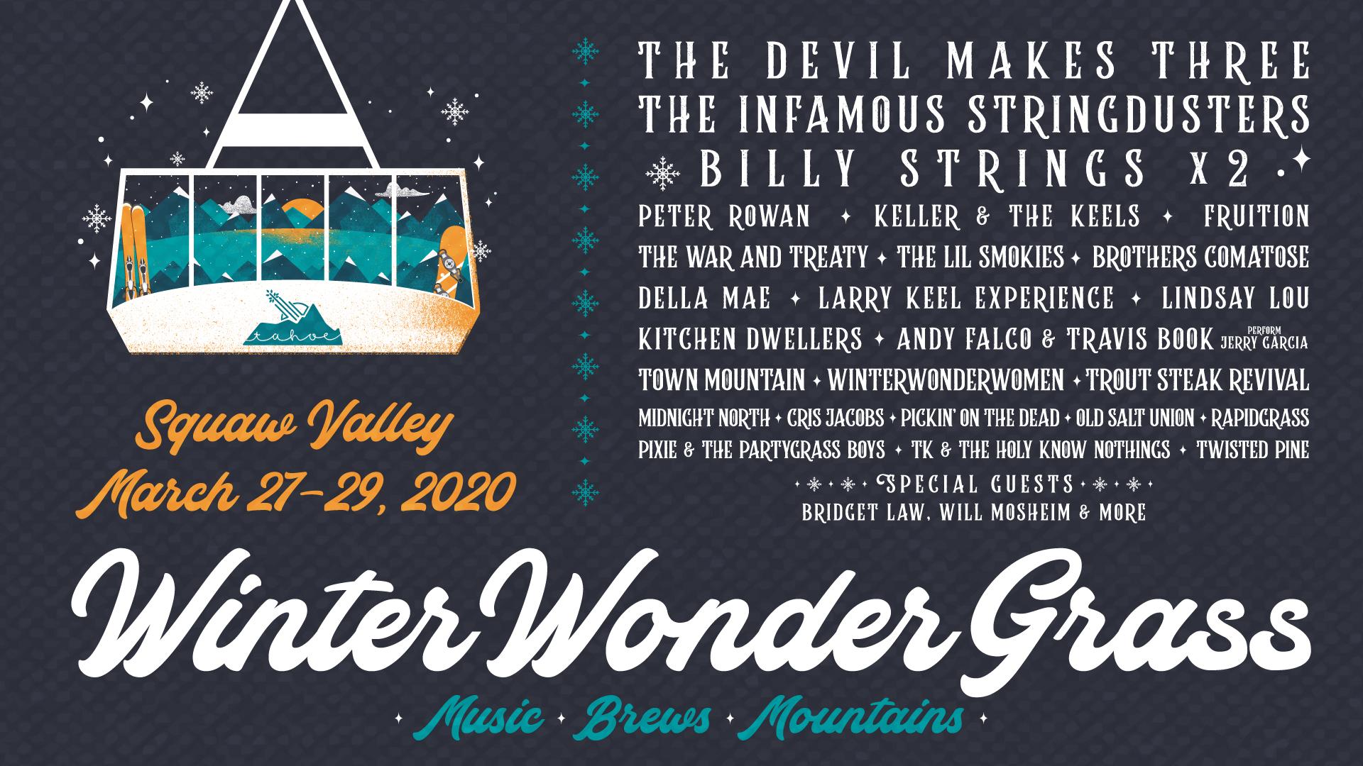 GIVEAWAY: Win tickets to WinterWonderGrass (Squaw Valley, CA) Mar 27-29