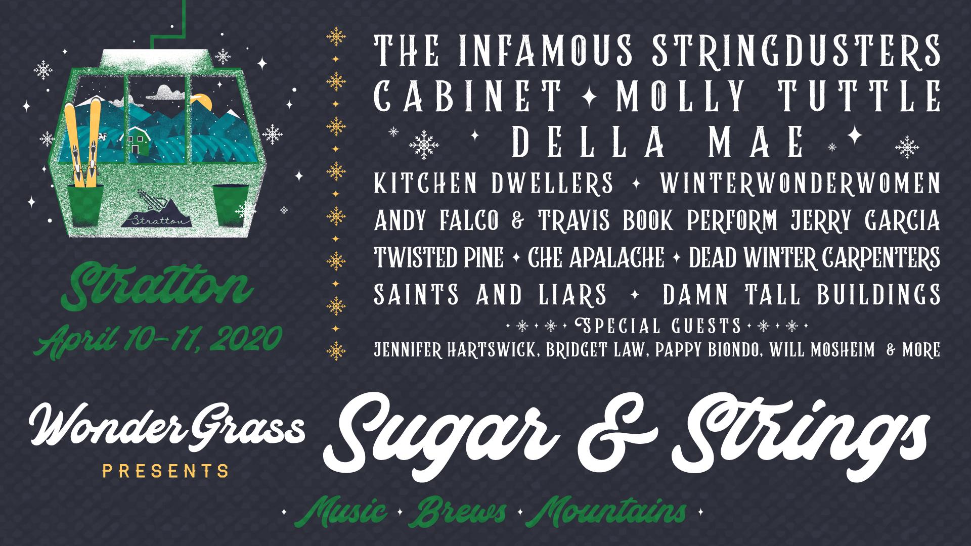 GIVEAWAY: Win tickets to WinterWonderGrass Sugar & Strings (Stratton, VT) Apr 10-11